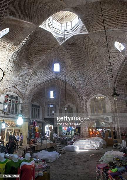 Inside the old bazaar in Tabriz Iran on September 7 2013