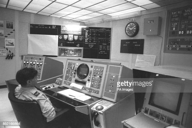 Inside the operational centre at RAF Fylingdales Britain's early warning station on the Yorkshire Moors In the event of a nuclear missile attack on...