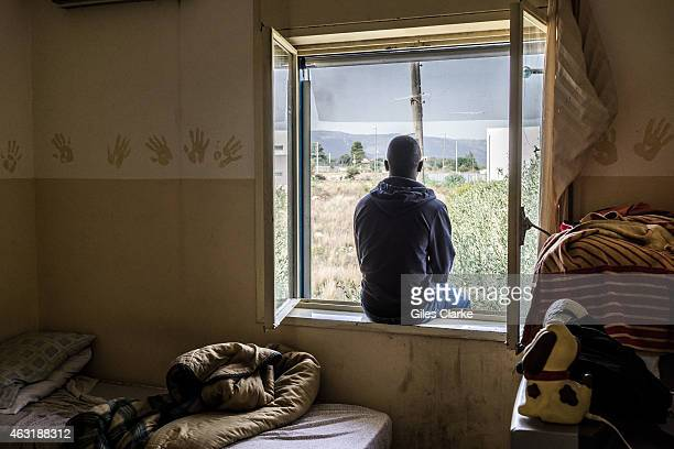 Inside the 'Papa Francisco' African migrant center for minors in eastern Sicily on October 16 2014 There are 80 boys under 18 here who were all...