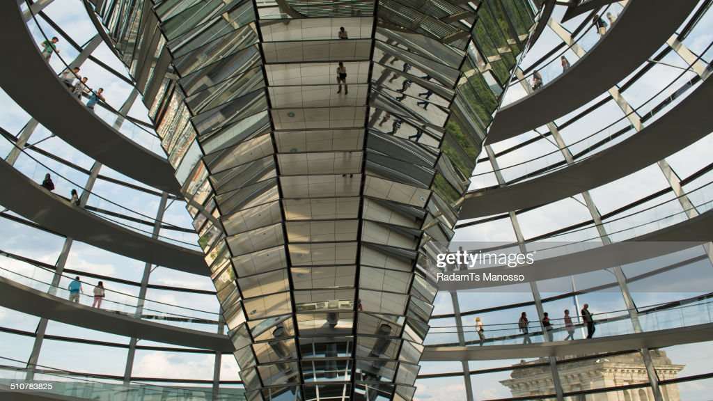 Inside the Reichstag Dome, Berlin, Germany.