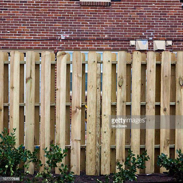 Inside the securely gated and private Georgetown Apartment complex newly installed wooden privacy fence potting soil and shrubbery and freshly...