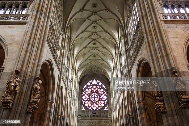 Inside the St. Vitus Cathedral in Prague