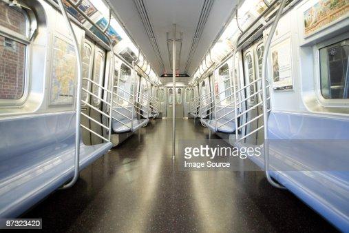 Inside train compartment