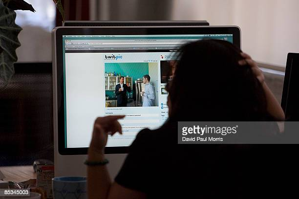 Inside Twitter headquarters March 10 2009 in San Francisco California Twitter the new social networking service that allows users to send out and...