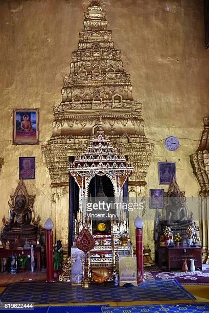 Inside Vat Simeuang temple Vientiane Laos