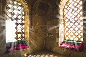 Inside view of Diri Baba Mausoleum located in Maraza city of Gobustan District, Azerbaijan