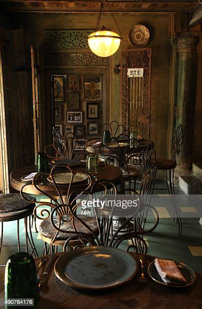 Inside view of Pali Bhavan a fine dining restaurant in Bandra on January 7 2013 in Mumbai India