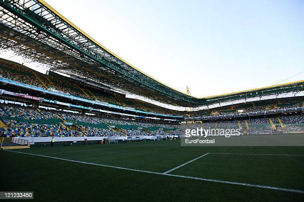 Inside view of the Alvalade Stadium home of Sporting Clube de Portugal before the Portuguese Primeira Liga ZON Sagres match between Sporting Lisbon...