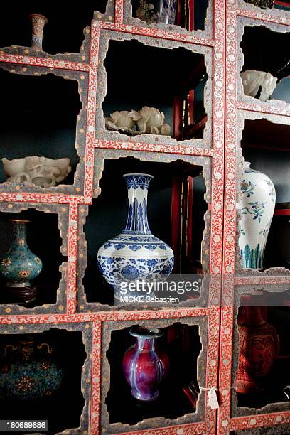 Inside view of the apartments of the Empress Dowager Cixi Vases China Beijing September 2011