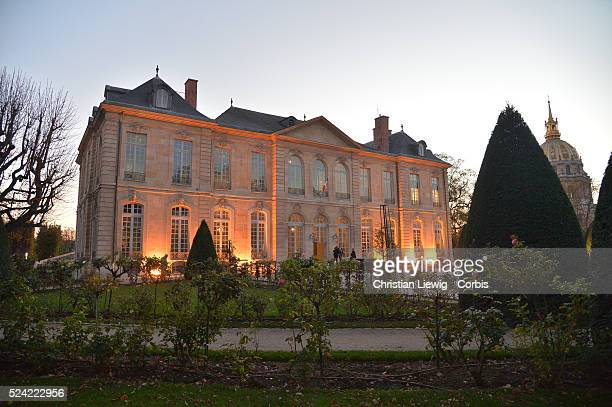 Inside view of the Hotel Biron home of the permanent collections of the Rodin Museum in Paris France on November 9 2015 The museum will reopen its...