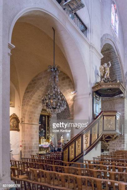 Inside view  of the St Mary Cathedral at Antibes