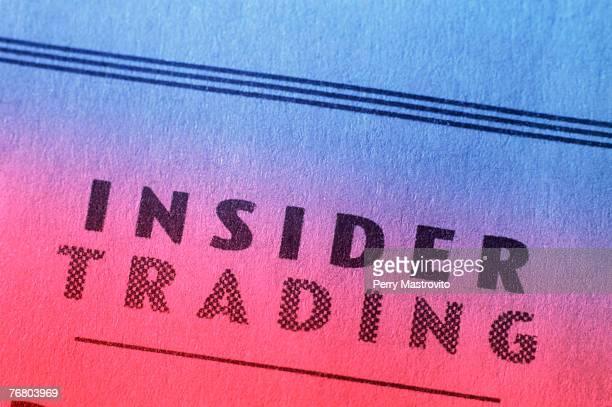 Insider trading headline