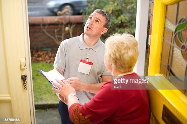 Inspecting salesman