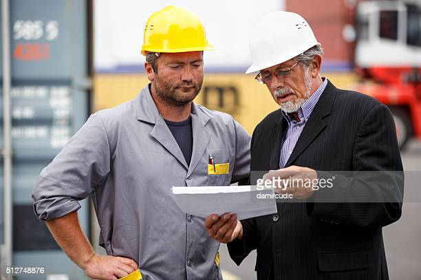 Inspections at commercial transport dock