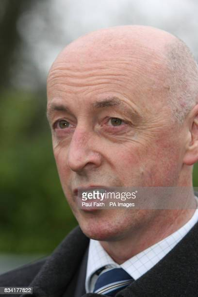 Inspector Ian Kennedy speaks to the media outside Dungannon court after a drunkdriver who crashed his car killing four friends was jailed for seven...