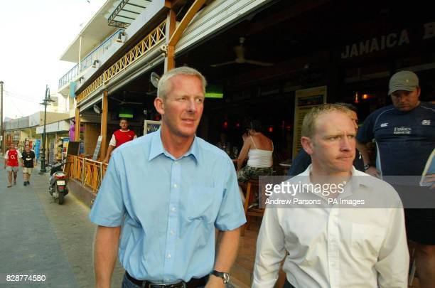 Inspector John Donnelly and Superintenant Andy Rhodes walk around Faliraki Greece Sunda The two British Police officers met with Greek authorities on...