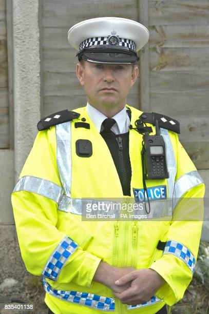Inspector Rob Pearson Road Policing Department near the pavement where 11yearold Sam Riddall died after a car ploughed into him and his friends on...