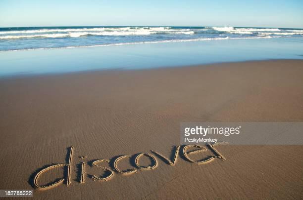Inspiration Découvrez Message vide manuscrite sur la plage