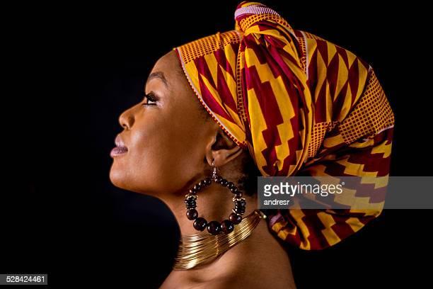 Inspirational black woman portrait