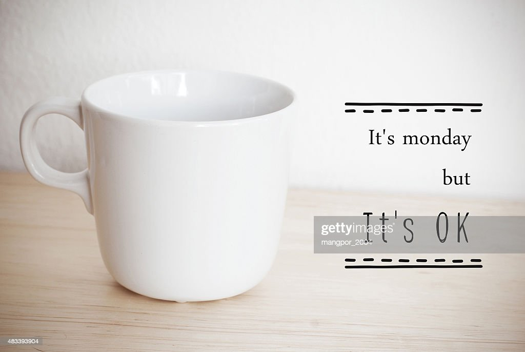 Inspirational Quote On Coffee Cup Background : Stock Photo Good Ideas