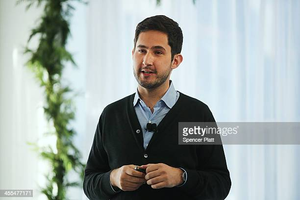 Instagram CEO Kevin Systrom speaks at a news conference where he intruduced Instagram Direct on December 12 2013 in New York City Instagram Direct...