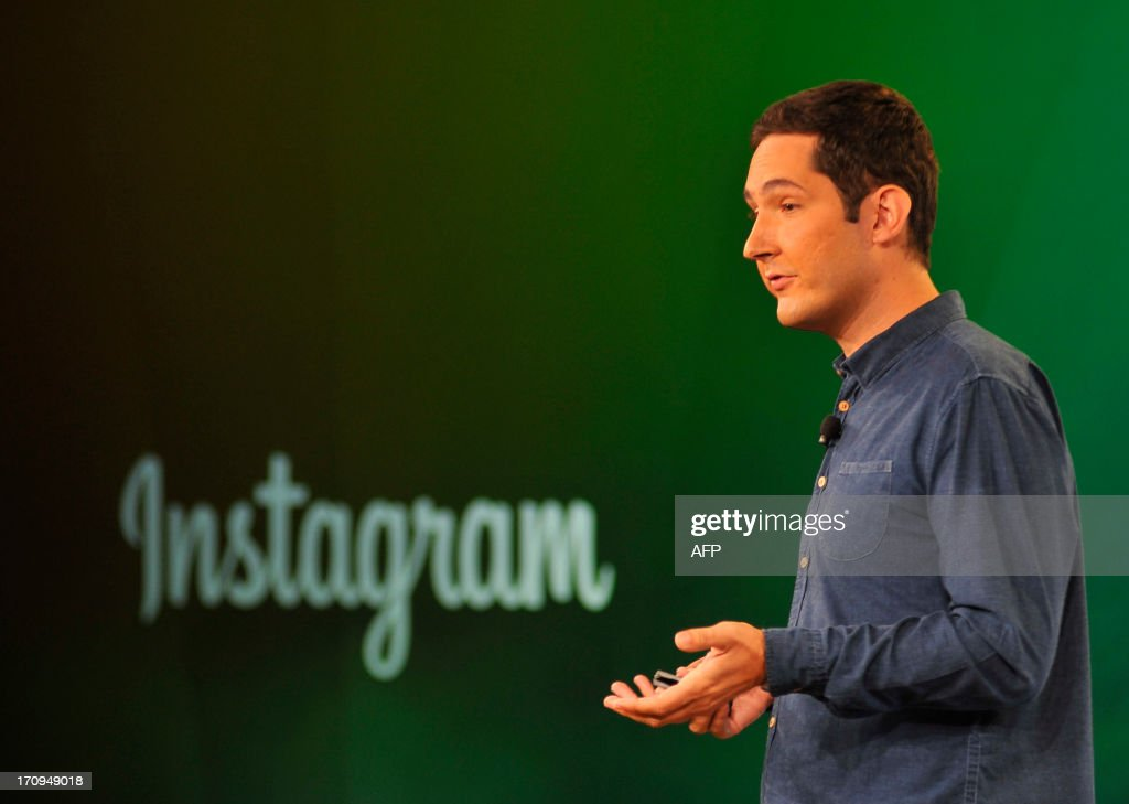 Instagram CEO Kevin Systrom speaks at Facebook's corporate headquarters during a media event in Menlo Park, California, on June 20, 2013. Facebook announced Thursday that it will add smartphone video-sharing to its Instagram photo-based social network, in a move that challenges Twitter's popular Vine service. Instagram video apps tailored for iPhones and smartphones powered by Google-backed Android software feature 13 filters for special effects and post to people's Facebook pages the same way pictures do, according to Systrom.AFP PHOTO Josh Edelson