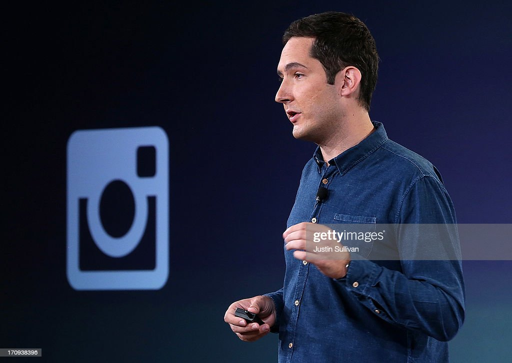 Instagram CEO <a gi-track='captionPersonalityLinkClicked' href=/galleries/search?phrase=Kevin+Systrom&family=editorial&specificpeople=7804585 ng-click='$event.stopPropagation()'>Kevin Systrom</a> speaks during a press event at Facebook headquarters on June 20, 2013 in Menlo Park, California. Systrom announced that Facebook's photo-sharing subsidiary Instagram will now allow users to take and share video.