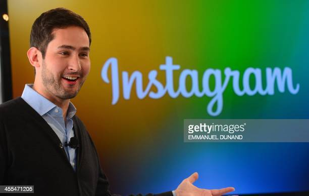 Instagram cofounder Kevin Systrom addresses a press conference in New York December 12 2013 Instragram unveiled Instagram Direct its own messaging...