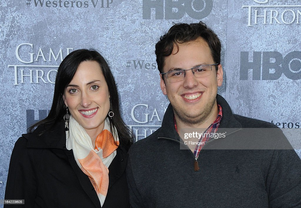 Instagram Co-Founder Mike Krieger (R) and guest arrive at the San Francisco Premiere For HBO's 'Game Of Thrones' Season 3 at Palace Of Fine Arts Theater on March 20, 2013 in San Francisco, California.