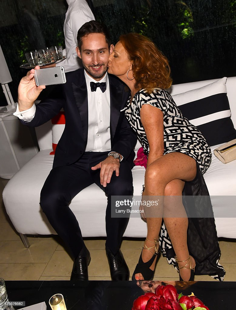 Instagram founder and CEO Kevin Systrom (L) and designer Diane von Furstenberg attend the 2015 CFDA Fashion Awards at Alice Tully Hall at Lincoln Center on June 1, 2015 in New York City.