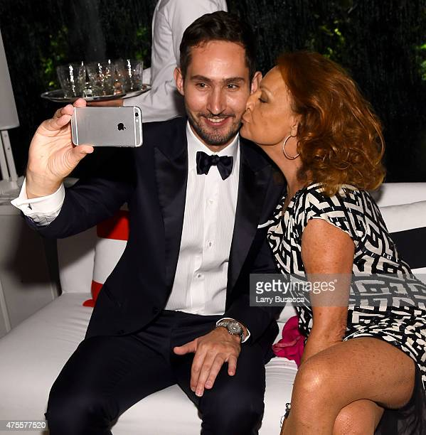 Instagram founder and CEO Kevin Systrom and designer Diane von Furstenberg attend the 2015 CFDA Fashion Awards at Alice Tully Hall at Lincoln Center...