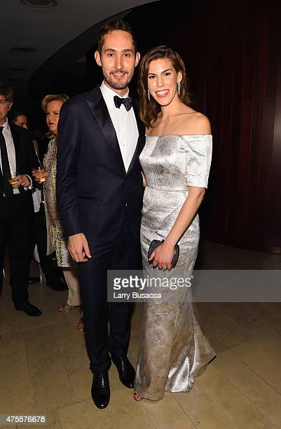 Instagram Founder and CEO Kevin Systrom and Nicole Schuetz attend the 2015 CFDA Fashion Awards at Alice Tully Hall at Lincoln Center on June 1 2015...