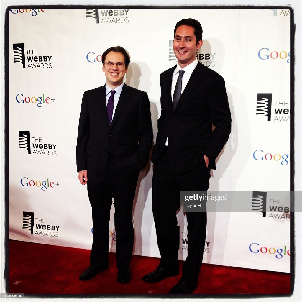 Instagram founders and co-CEOs Mike Krieger (L) and Kevin Systrom attend the 16th Annual Webby Awards at Hammerstein Ballroom on May 21, 2012 in New York City.