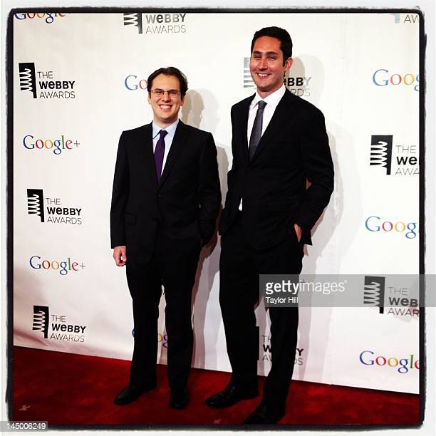 Instagram founders and coCEOs Mike Krieger and Kevin Systrom attend the 16th Annual Webby Awards at Hammerstein Ballroom on May 21 2012 in New York...