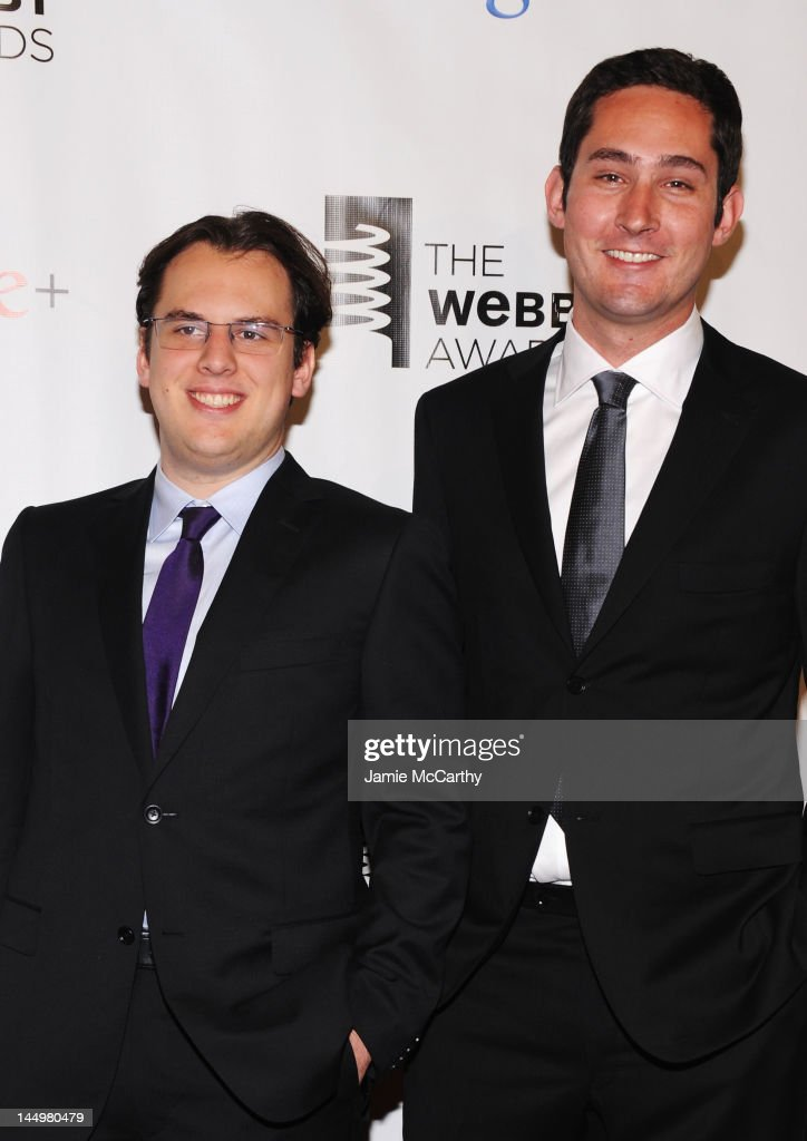 Instagram founders Mike Krieger and Kevin Systrom attend the 16th Annual Webby Awards on May 21, 2012 in New York City.