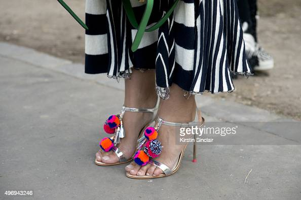 Instagram Influencer and Investor Haif Zamzam al Hammadi wears a Celine dress and Sophia Webster shoes on day 6 during Paris Fashion Week...