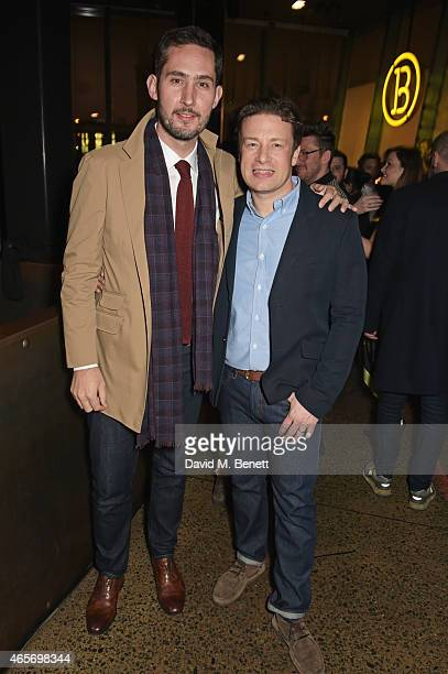Instagram's Kevin Systrom and Jamie Oliver host their second annual private party taking place at Barbecoa on March 9 2015 in London England