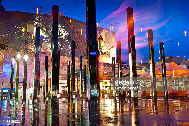 Installation for Light in Winter celebration in Federation Square.