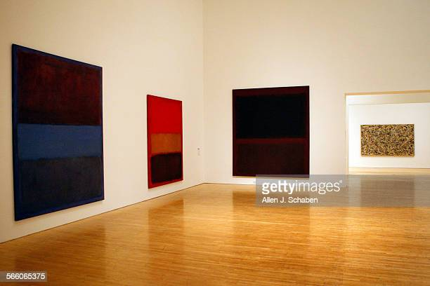 MOCA's First Thirty Years at MOCA Grand Avenue paintings from left to right Mark Rothko No 61 [Brown Blue Brown on Blue] Oil on canvas Mark Rothko No...