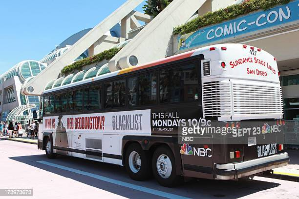 DIEGO 'NBC Installations at ComicCon 2013' Pictured NBC's Blacklist Bus Wrap