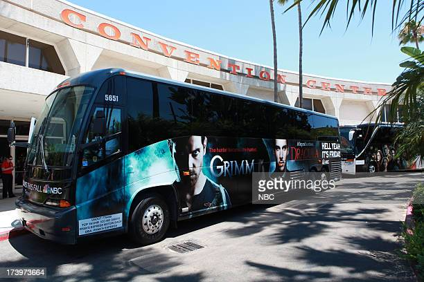 DIEGO 'NBC Installations at ComicCon 2013' Pictured NBC's Grimm Blacklist Bus Wrap