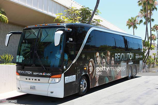DIEGO 'NBC Installations at ComicCon 2013' Pictured NBC's Revolution Bus Wrap