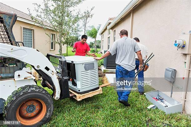 Installieren eine ganze Haus Notgenerator für die Hurrikansaison