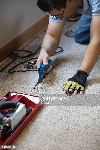 Installing Carpeting - gluing