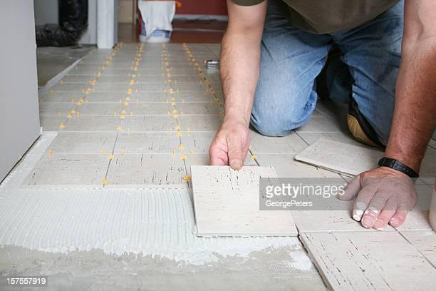Installing Luxury Floor Tiles