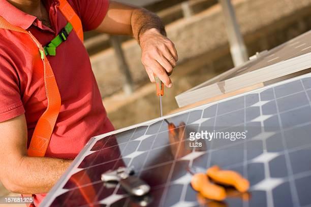 Installing solar cells