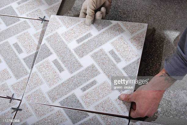 installing tile floor