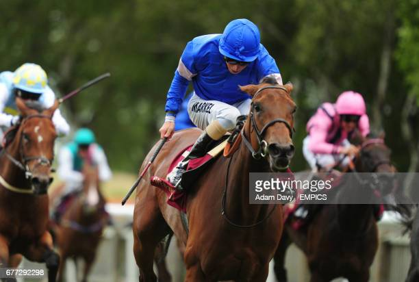 Instance ridden by William Buick comes home to win the PiperHeidsieck Champagne Irish EBF Fillies' Handicap Stakes