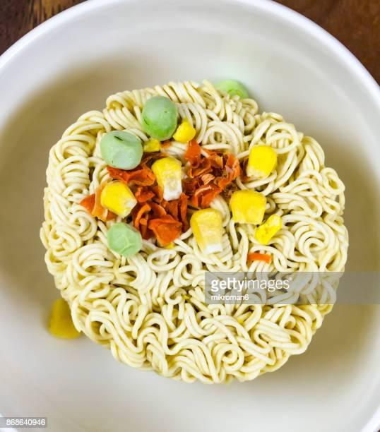 Instant Cup Noodle close up