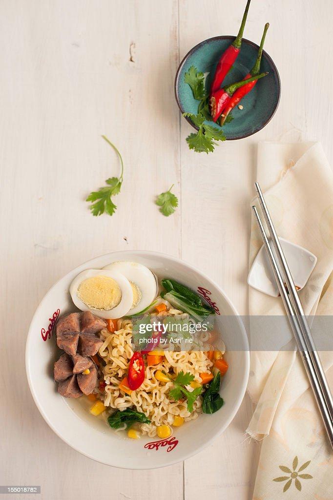 instant noodle : Stock Photo